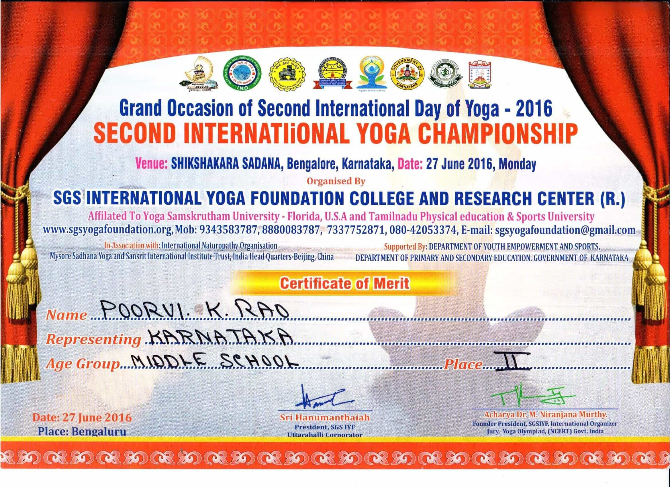 International Yoga Championship