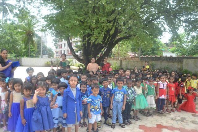 LKG kids of MCCS celebrating Colours Day