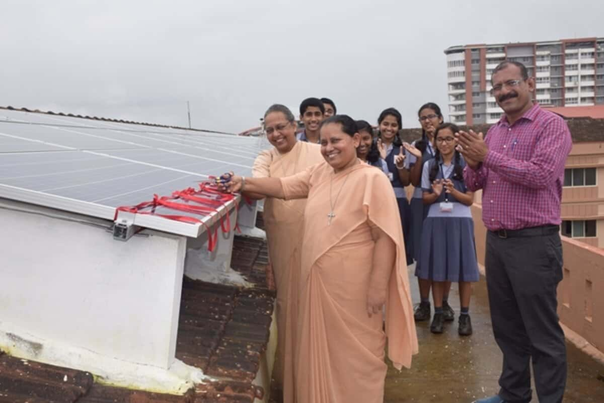 Installation of Solar Rooftop Power plant – Our school is now Green Campus