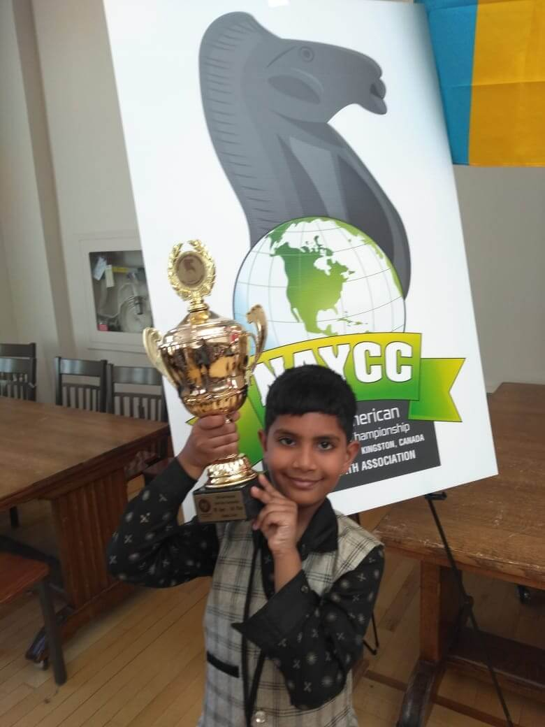Chess Prodigy Aaron Mendes wins the title 'Candidate Master' at NAYCC