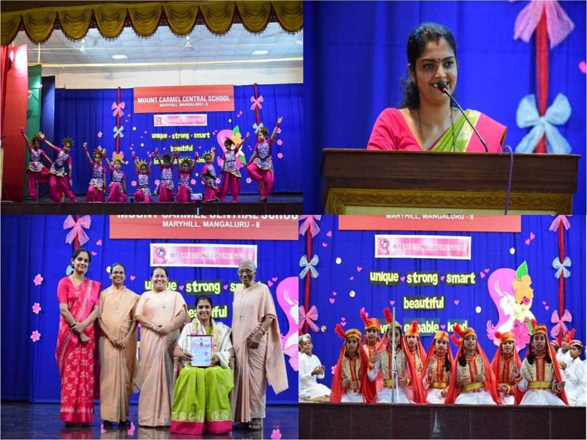 Corporator Mrs Sangeetha felicitated during the International Women's Day celebration