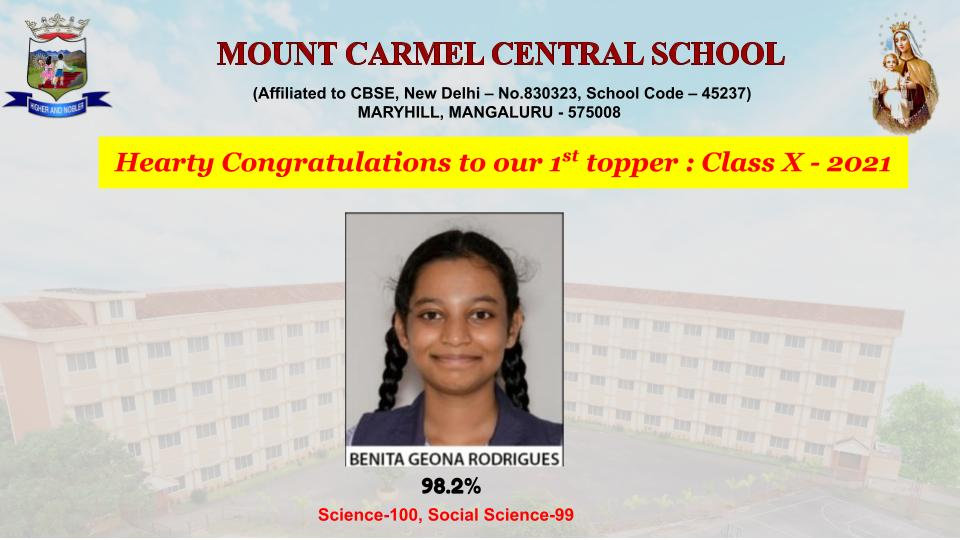 Superb Results in CBSE Class X 2021